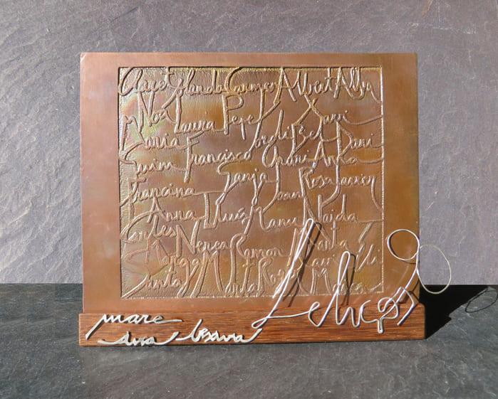 joia d'autor | placa de coure | disseny personalitzat | joia exclusiva ÀVIA PAQUI