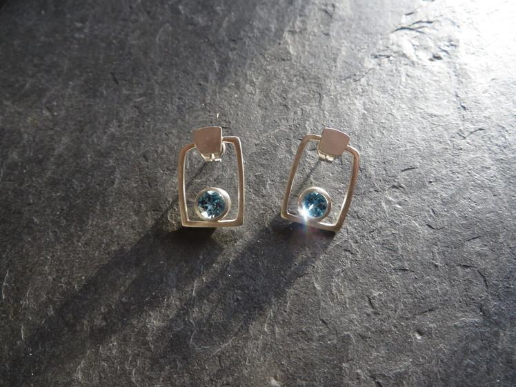 joia d'autor | arracades de plata amb pedres blaves | disseny personalitzat | joia exclusiva BEL