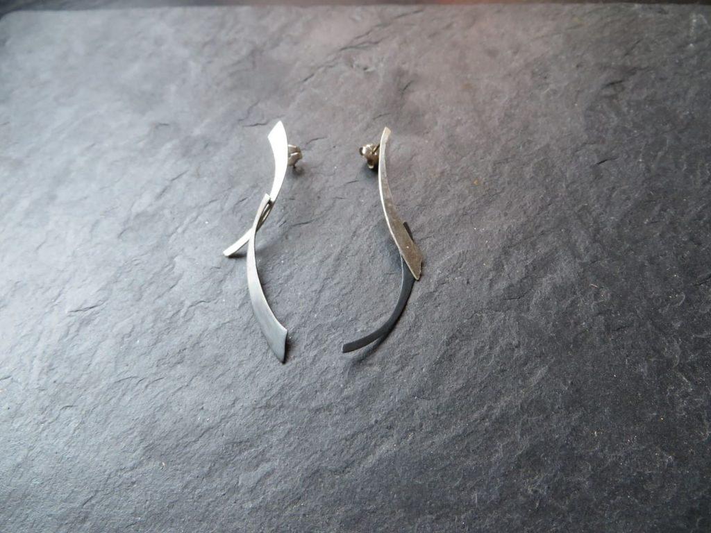 joia d'autor | arracades de plata | conjunt CRISTINA
