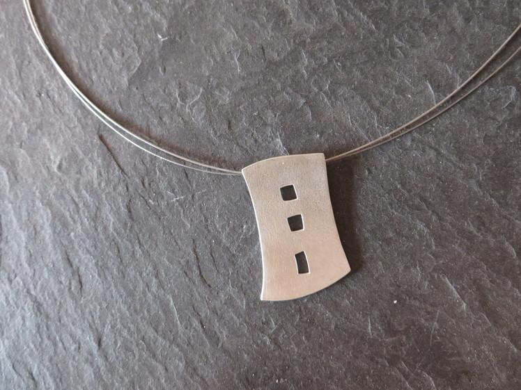 joia d'autor | penjoll de plata | conjunt EDIFICIS