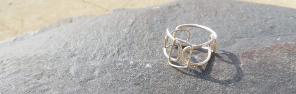 joia d'autor   anell de plata   conjunt FILS