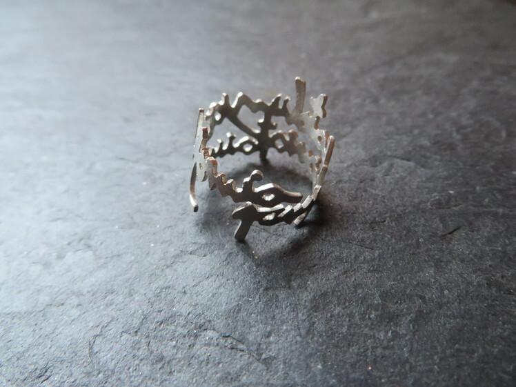 joia d'autor | anell de plata | disseny personalitzat | model LAURA
