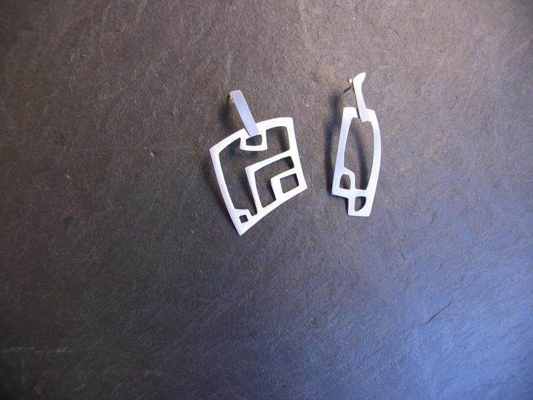 joia d'autor | arracades de plata | conjunt LLERS