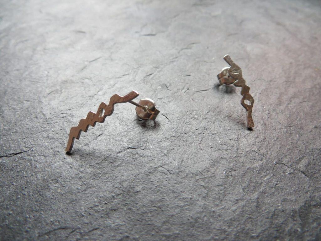 joia d'autor | arracades de plata | disseny personalitzat | model MAR-I-ONA