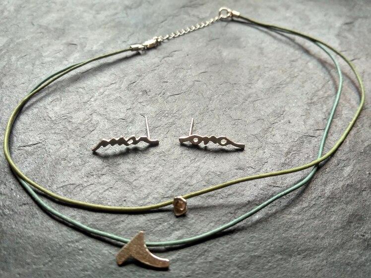 joia d'autor | arracades i penjoll de plata | disseny personalitzat | model MAR-I-ONA
