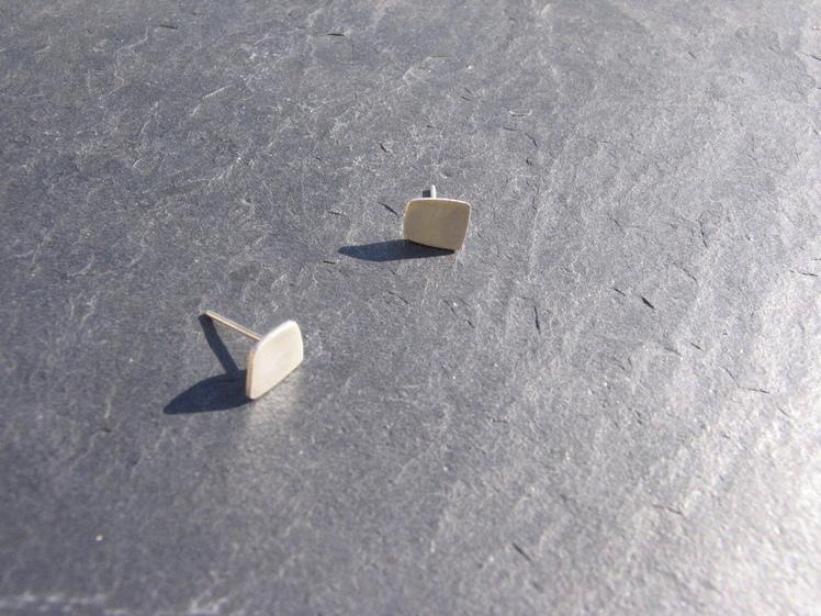 joia d'autor | arracades de plata | conjunt MARIONA (model de botó)