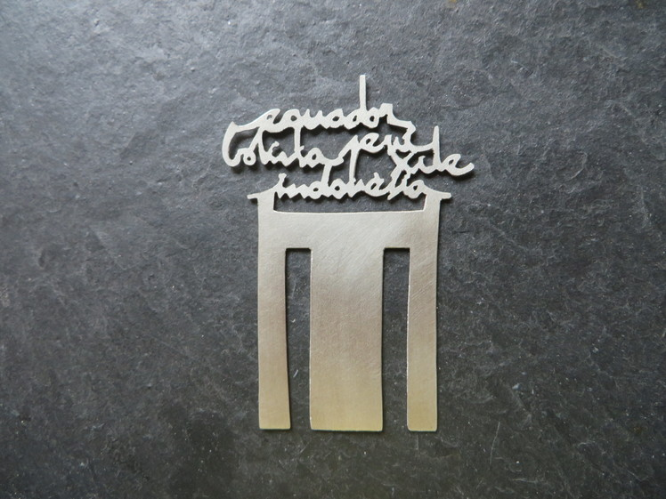 joia d'autor | punt de llibre | disseny personalitzat | model M. JOSÉ
