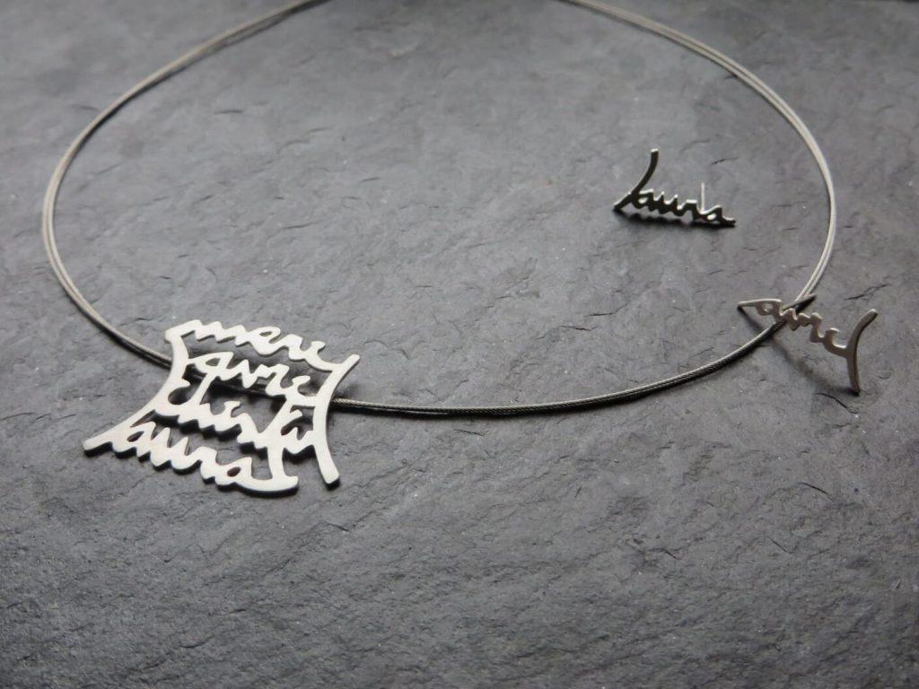joia d'autor | arracades i penjoll de plata | disseny personalitzat | model NEREA