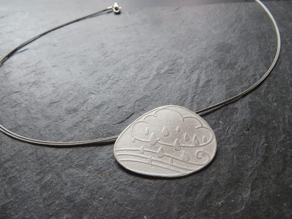 joia d'autor | penjoll de plata | disseny personalitzat | model CLASSES DEL NÚVOL I EL VENT