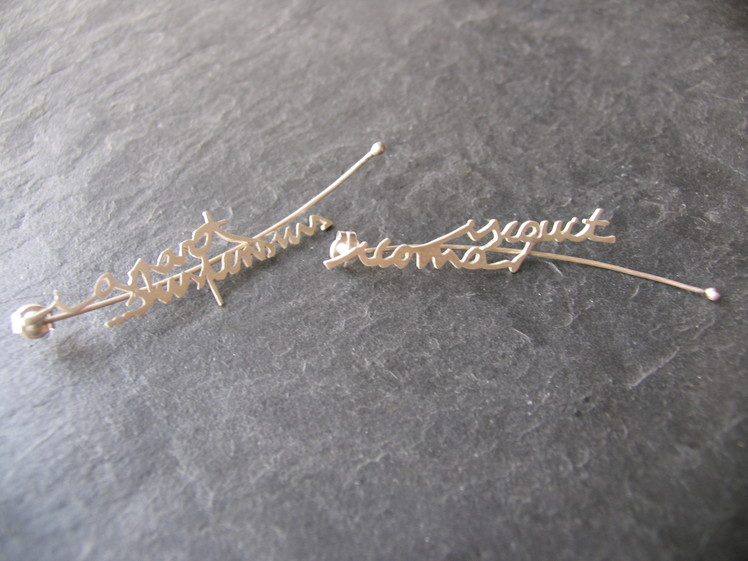 joia d'autor | arracades de plata | conjunt PUNT DE LA I
