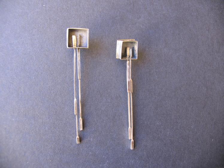 joia d'autor | arracades de plata | conjunt ROSA