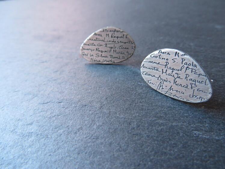 joia d'autor | arracades de plata | disseny personalitzat | model UNIVERS