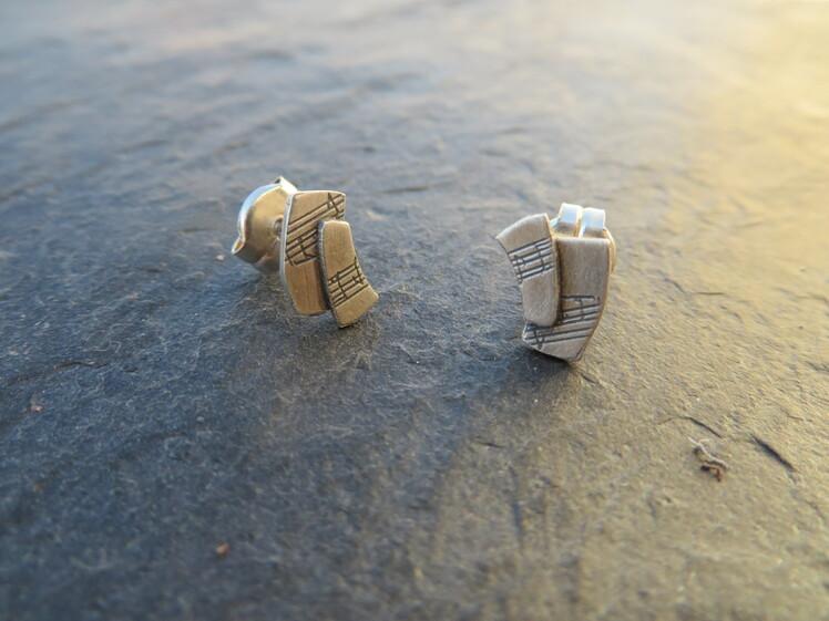 joia d'autor | arracades de plata | gravat làser |conjunt LALI