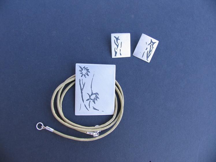 joia d'autor   disseny personalitzat  conjunt LLERS FLORS