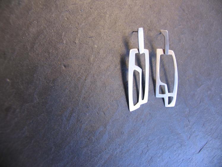 joia d'autor | arracades de plata | conjunt LLERS v1 (amb moviment)