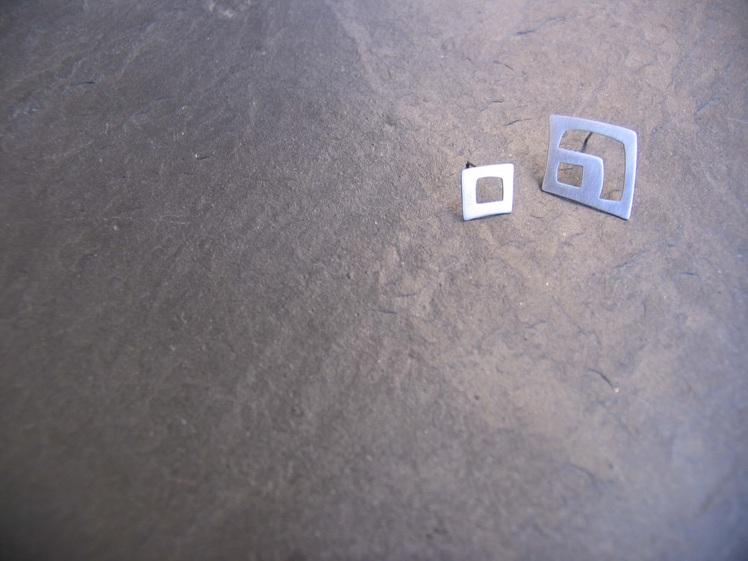 joia d'autor | arracades de plata | conjunt LLERS v2 (model de botó)